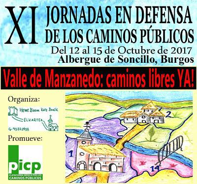 XI Jornadas en defensa de los caminos públicos. Valle de Manzanedo 2017
